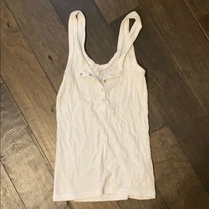 Rubbed white tank from Aerie